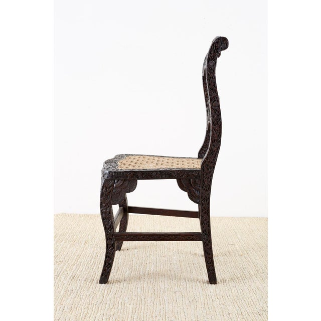 Anglo Indian Carved Rosewood Desk Chair For Sale In San Francisco - Image 6 of 13