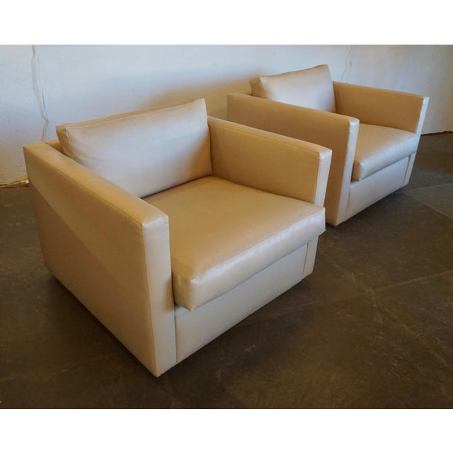 Textile Charles Pfister for Knoll Lounge Chairs - a Pair For Sale - Image 7 of 10