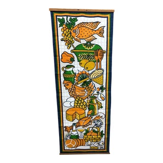 Vintage Swedish Ulla Margareta Littorin/Uml Tapestry Wall Art for Kitchen For Sale