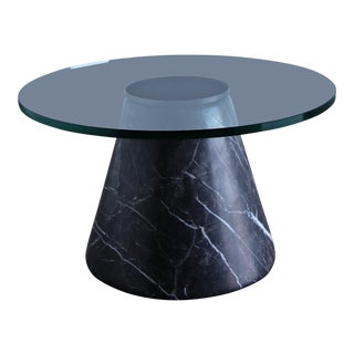 1980s Mid-Century Modern Lodovico Acerbis and Giotto Stoppino Marble Occasional Table For Sale