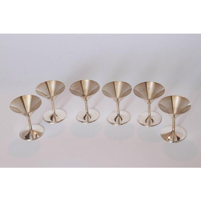 1930s Machine Age Art Deco Silver Plate Cocktail Set by WMF Germany For Sale - Image 5 of 11