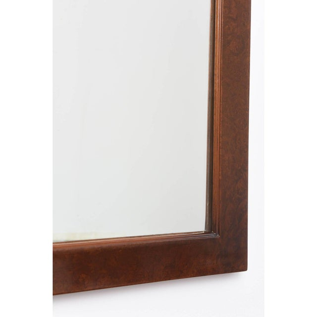 1940s Mid-Century Burlwood Console & Mirror Set For Sale - Image 5 of 10