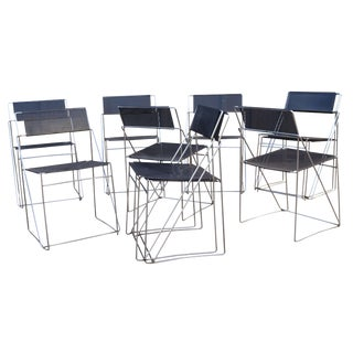 Dutch Armless Dining Chairs- Set of 10 For Sale