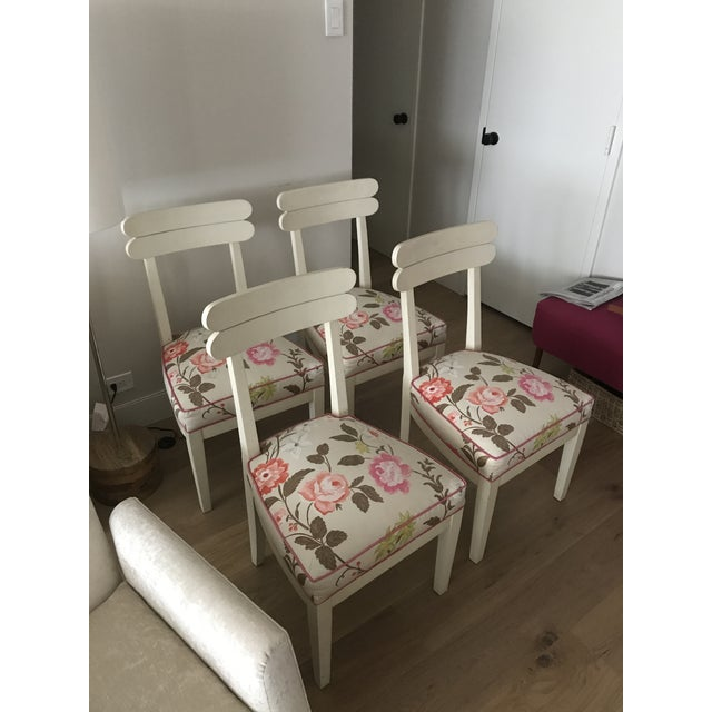 Floral Dining Room Chairs - Set of 4 - Image 2 of 7