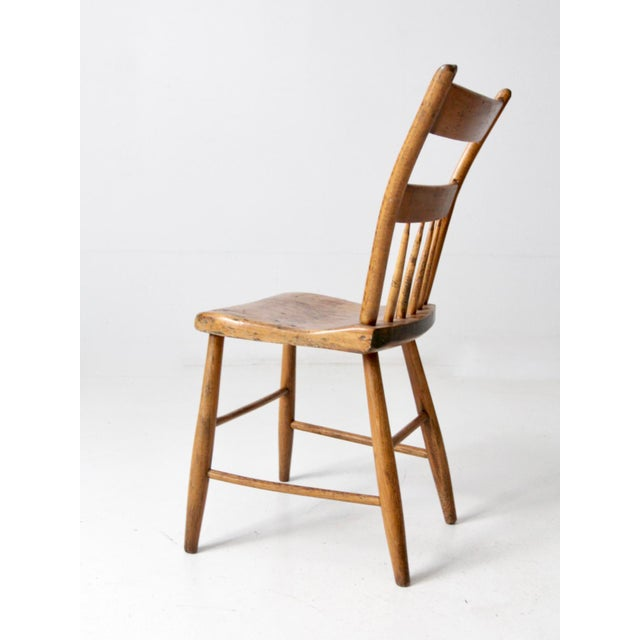 Green Antique Primitive Chair For Sale - Image 8 of 10