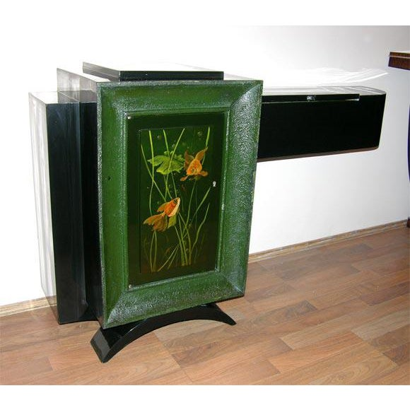 Black French Art Deco Low Cabinet by René Drouet and Gaston Suisse For Sale - Image 8 of 8