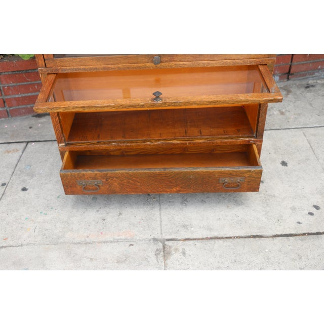 Antique Lawyers Bookcase For Sale In Los Angeles - Image 6 of 11