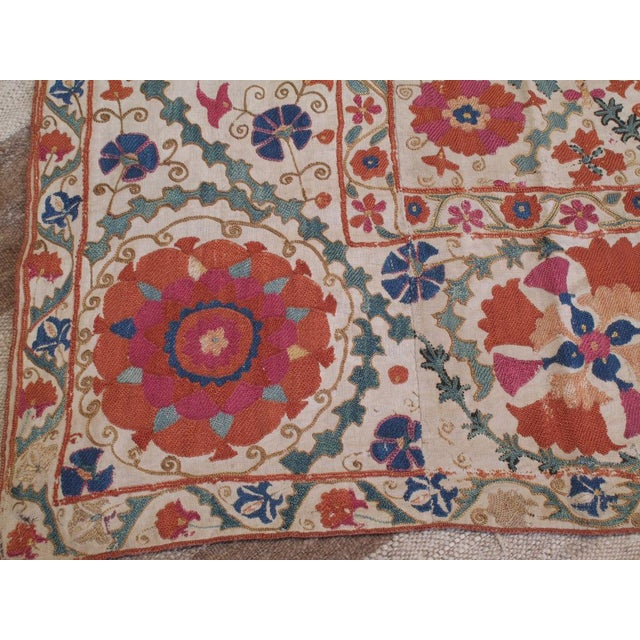 Antique Suzani For Sale - Image 4 of 8