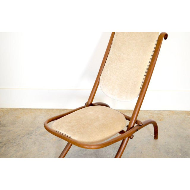 Designed by Gebruder Thonet, early 20th C, Art Nouveau style, in Cream Velvet and Wood Frame