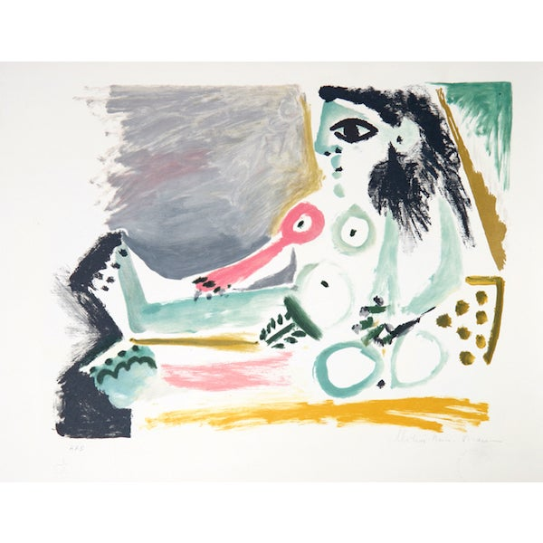 """Pablo Picasso, """"Femme Nu Assise,"""" Lithograph For Sale"""