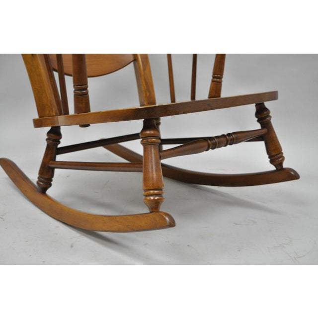 Mid-Century Tell City Maple Sculptural Ladder Back Rocking Chair For Sale In Philadelphia - Image 6 of 11