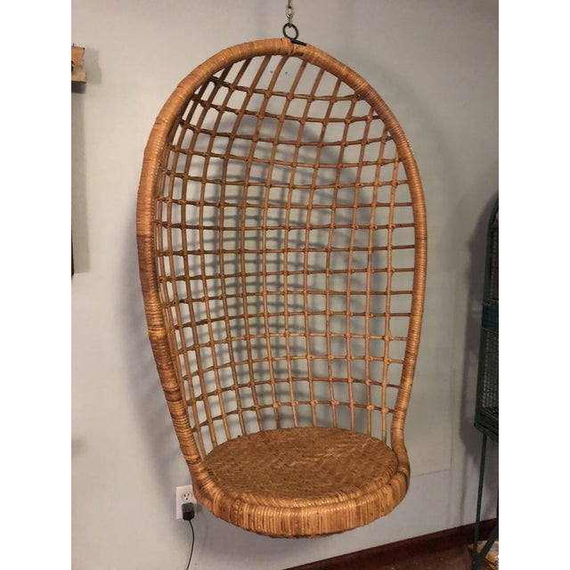 Mid-Century Ficks and Reed Style Bamboo Hanging Chair For Sale - Image 10 of 10