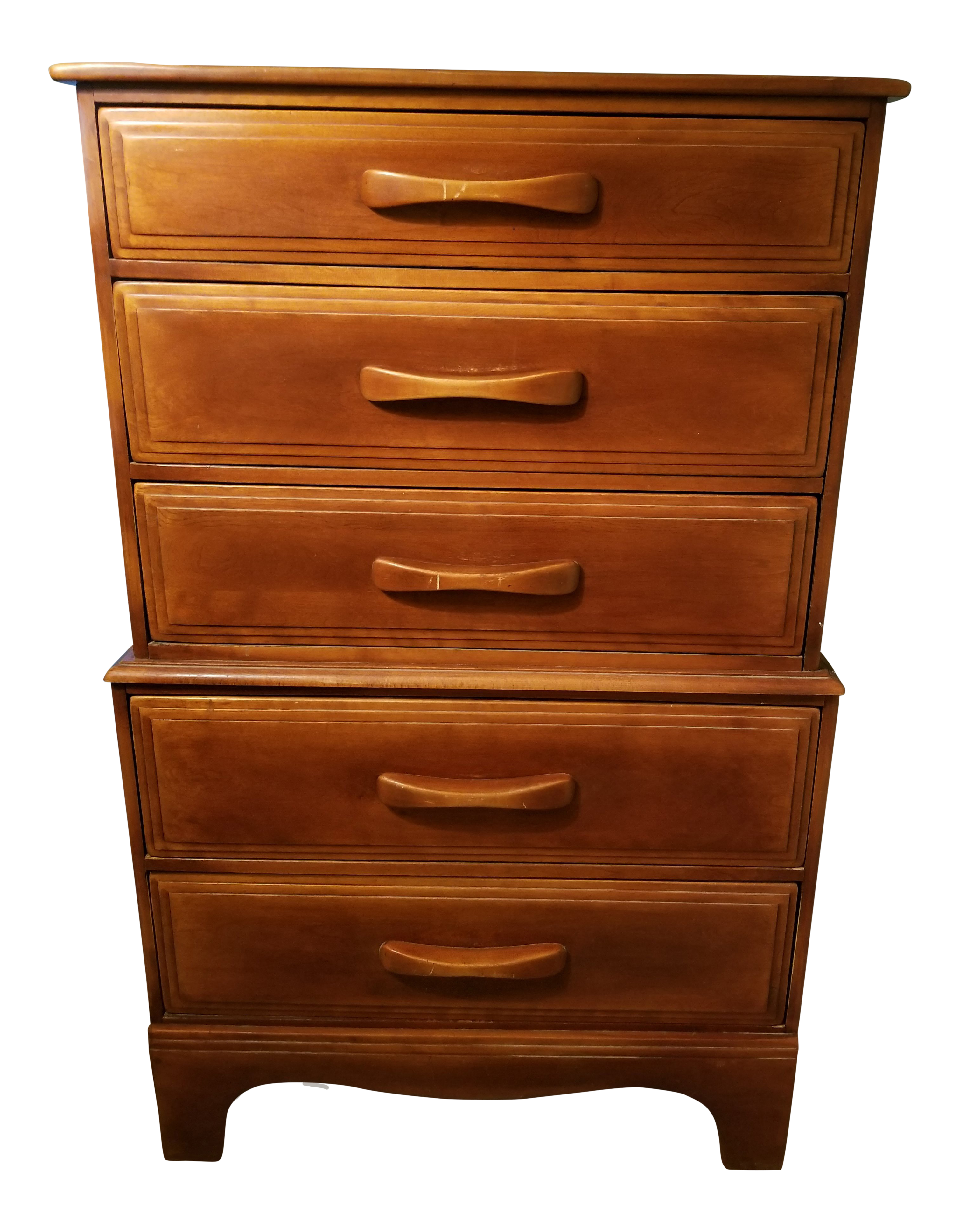Gentil Cushman Colonial Rock Maple Chest Of Drawers