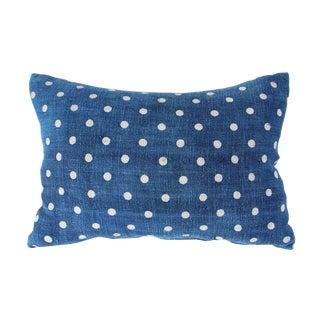 Indigo Denim Dot Pillow