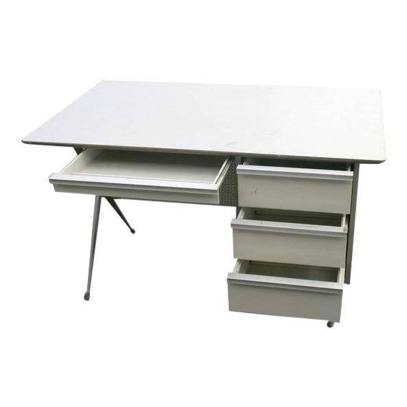 Raymond Loewy Brunswick 4 Drawer Office Desk For Sale