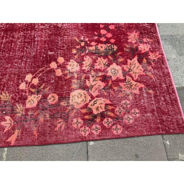 Textile Turkish Tribal Anatolian Distressed Vintage Rug - 7′ × 10′2″ For Sale - Image 7 of 11
