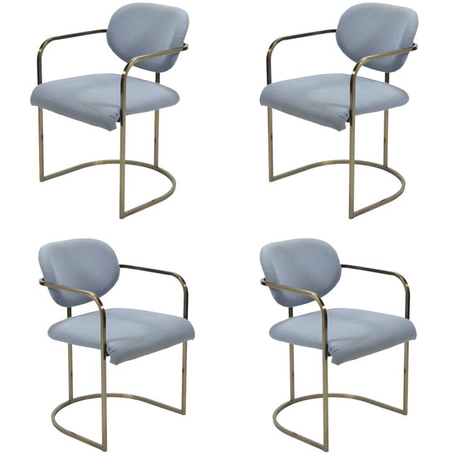 Set of Four Armchairs by Design Institute of America For Sale - Image 10 of 10