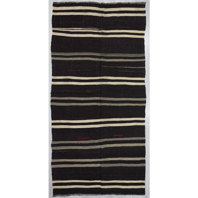 "Vintage Striped Kilim Rug - 5'1"" x 10'5"" For Sale In Los Angeles - Image 6 of 6"