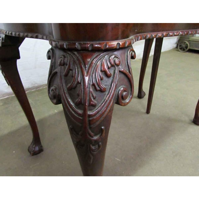 Leather Top Console Table For Sale - Image 4 of 10