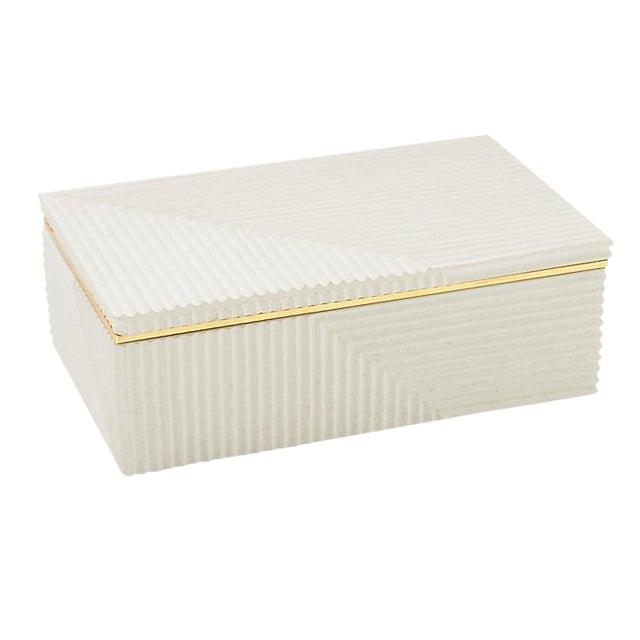 Modern Cream Cement Box For Sale