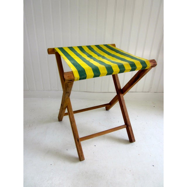Folding Wood Camping Stool For Sale - Image 4 of 6