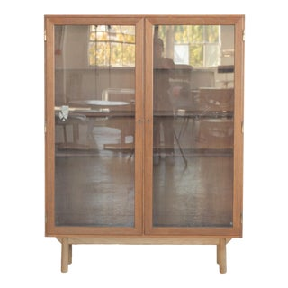 Rosewood & Glass Bookcase For Sale