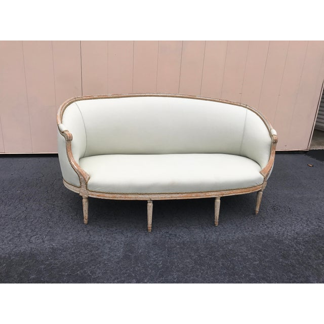 18th Century French Louis XVI Settee For Sale - Image 11 of 12