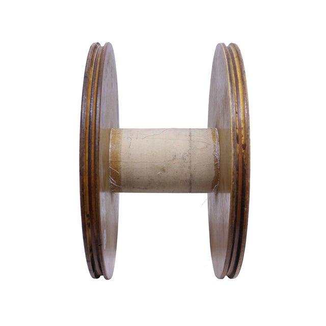 Vintage Blonde Wood Spool - Image 4 of 4