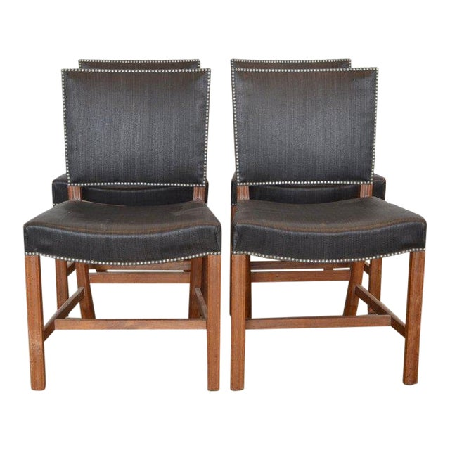 Set of Four Kaare Klint Red Chairs, 1954 For Sale