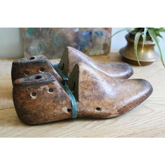 Vintage Mens Wooden Shoe Molds For Sale - Image 5 of 7