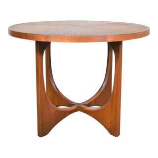 Mid Century Modern Broyhill Brasilia Round Lamp End or Side Table For Sale