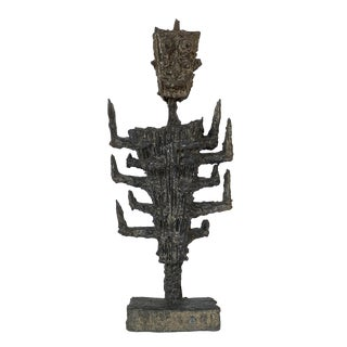 Pia Manu Brutalist Abstract Sculpture For Sale