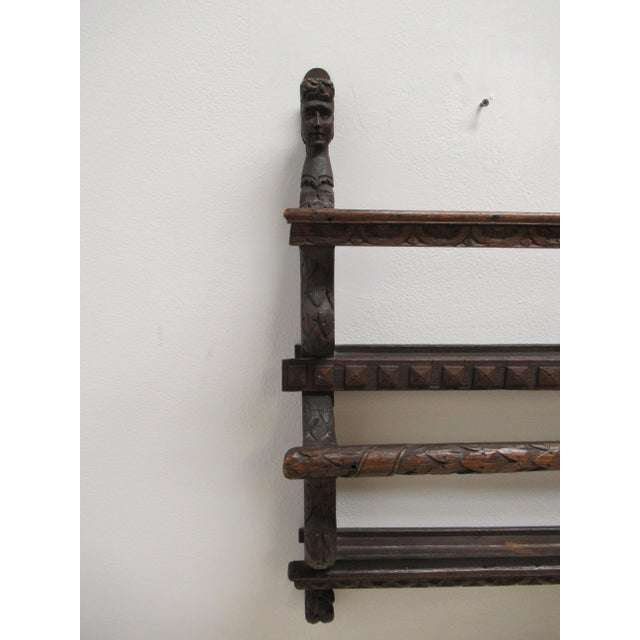 Italian Figural Carved Hand Plate Rack For Sale - Image 4 of 12