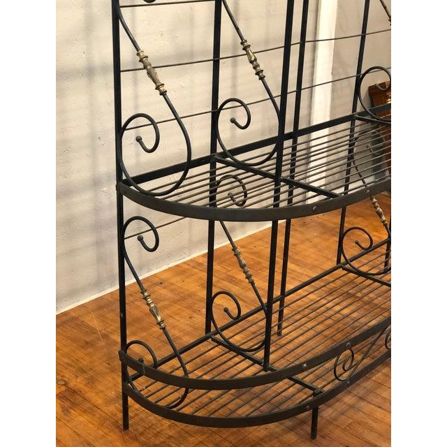Vintage Black and Gold Baker's Rack For Sale - Image 9 of 13