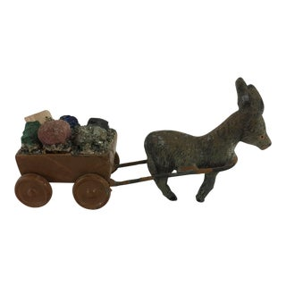 Cold Painted Bronze Miniature Donkey For Sale