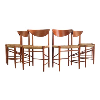 Set of Six (6) Dining Chairs Designed by Peter Hvidt and Orla Möllgaard Nielsen, Denmark For Sale