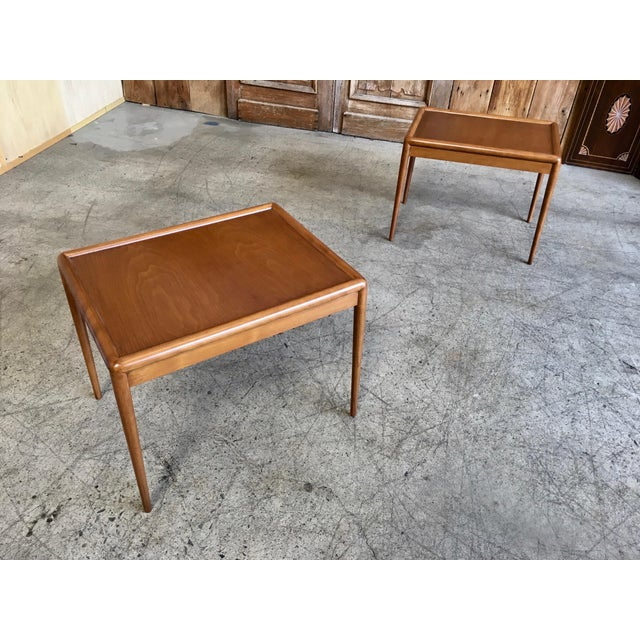 A beautiful pair of Model No. 1783 Mid-Century nesting tables by American designer T.H. Robsjohn Gibbins. Big table...