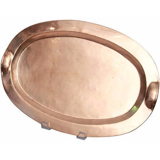 Copper & Brass Oval Tray - Image 1 of 3