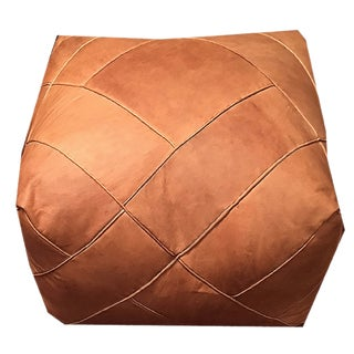 ZigZag Pouf by Mpw Plaza, Sand (Stuffed), Moroccan Leather Pouf Ottoman Preview