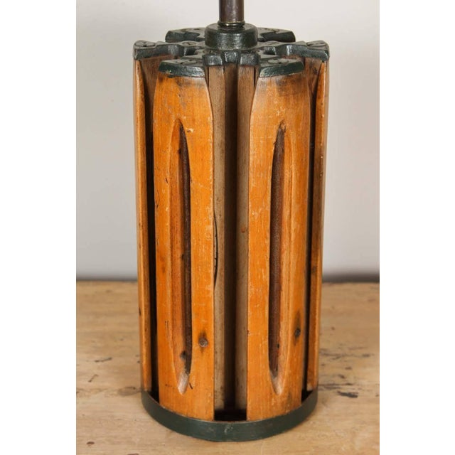 1900 - 1909 Shuttle Barrel Table Lamp For Sale - Image 5 of 6