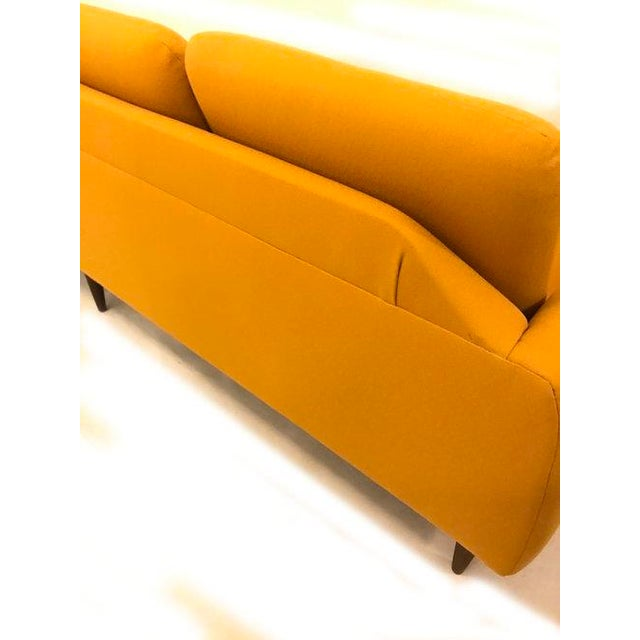 Yellow Mid-Century Modern Couch - Image 5 of 8