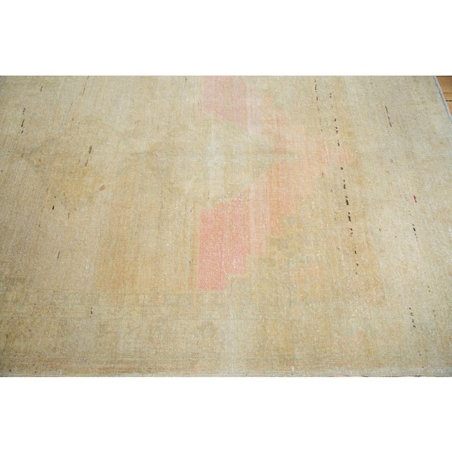 """Pink Distressed Oushak Rug - 5' X 7'6"""" For Sale - Image 8 of 9"""