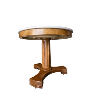 Classic Wood and Marble Top Entry Table Preview