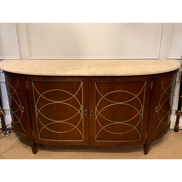 Duchamp Demilune Sideboard With Satillia Marble Top, by Hickory Chair Furniture For Sale - Image 11 of 12