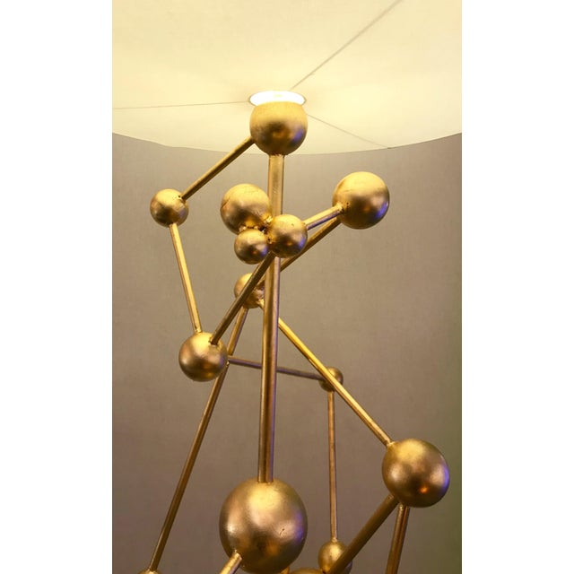 Floor Lamp Atomica Iron Gold Leaf by Antonio Cagianelli, Italy, 2018 For Sale - Image 9 of 12