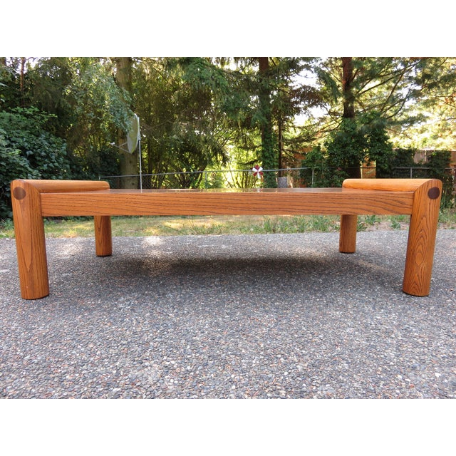 Vintage Modernist Oak & Copper Coffee Table - Image 3 of 6