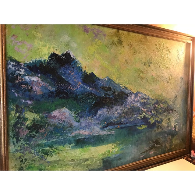 This smashing painting is the work of a Texas woman who should have become a well known name in the art world, but did...