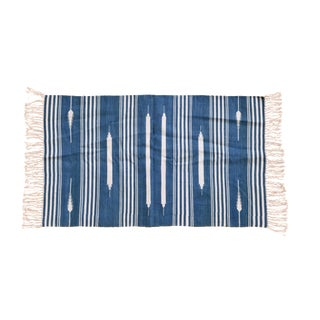 Hazel Rug, 10x14, Blue & White For Sale