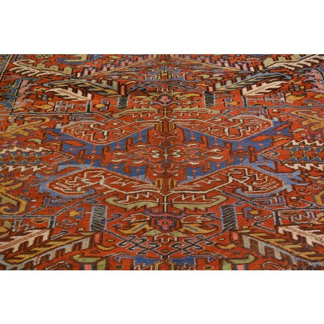 "Vintage Persian Heriz Rug - 7'x9'4"" For Sale - Image 5 of 8"