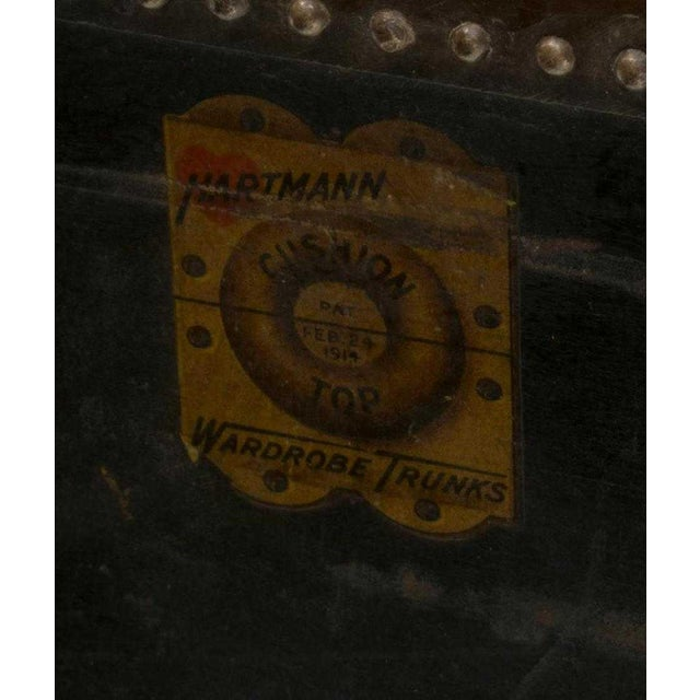 1920s 1920s Americana Hartmann Cushion Top Wardrobe Trunk For Sale - Image 5 of 9